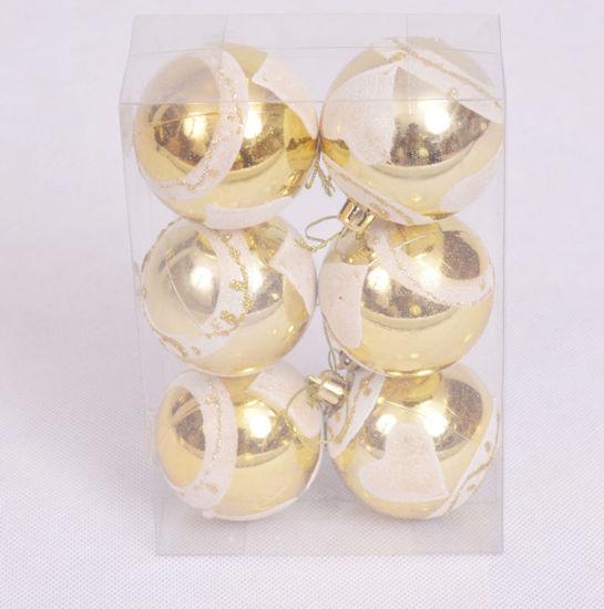 Image de Boite de 6 boules suspendues de  décoration du Sapin