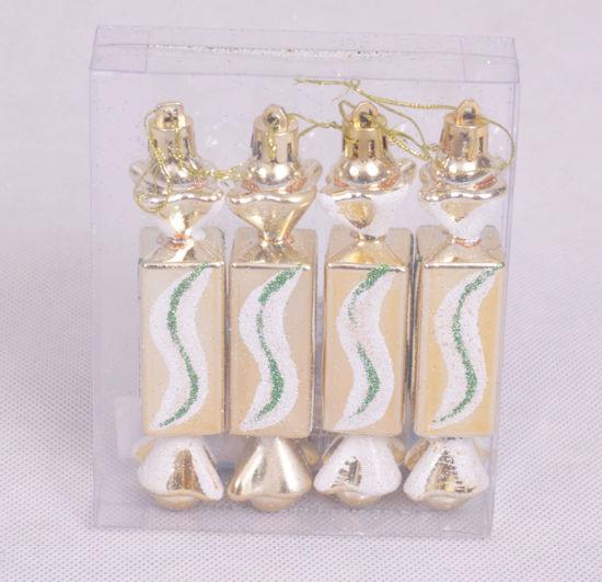 Image de Boite de 4 bonbons suspendues de décoration noel