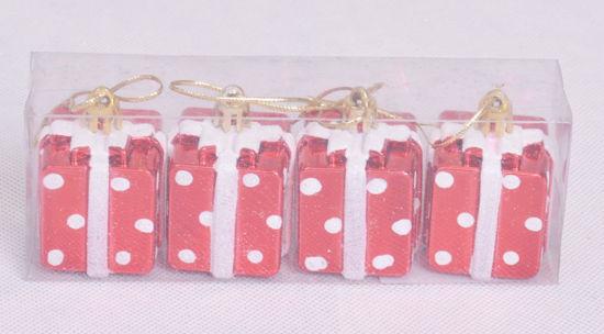 Image de Coffret 4 cadeaux suspendues pour décoration noël