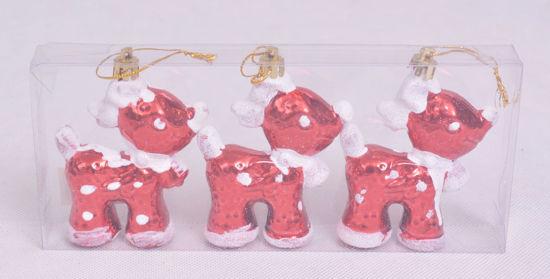 Image de Coffret trois rennes suspendues pour décoration noël