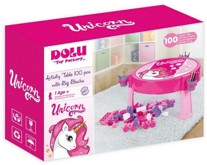 Image de Dolu 2-in-1 Play Table with Unicorn Blocks