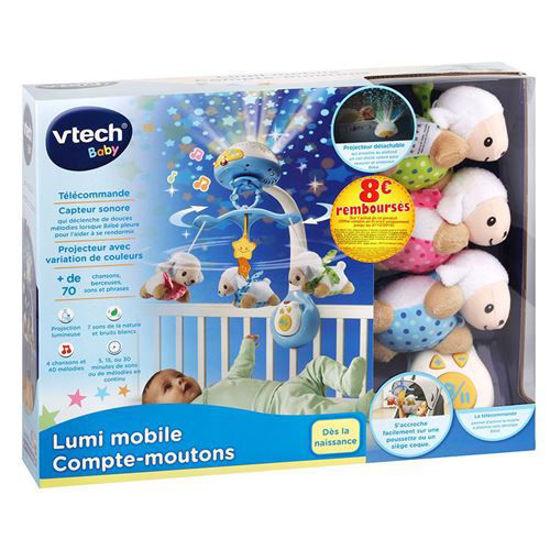 Image de V Tech - Lumi mobile Compte-moutons Bleu/Blanc