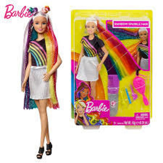 Image de Poupée Barbie Rainbow Sparkle hair