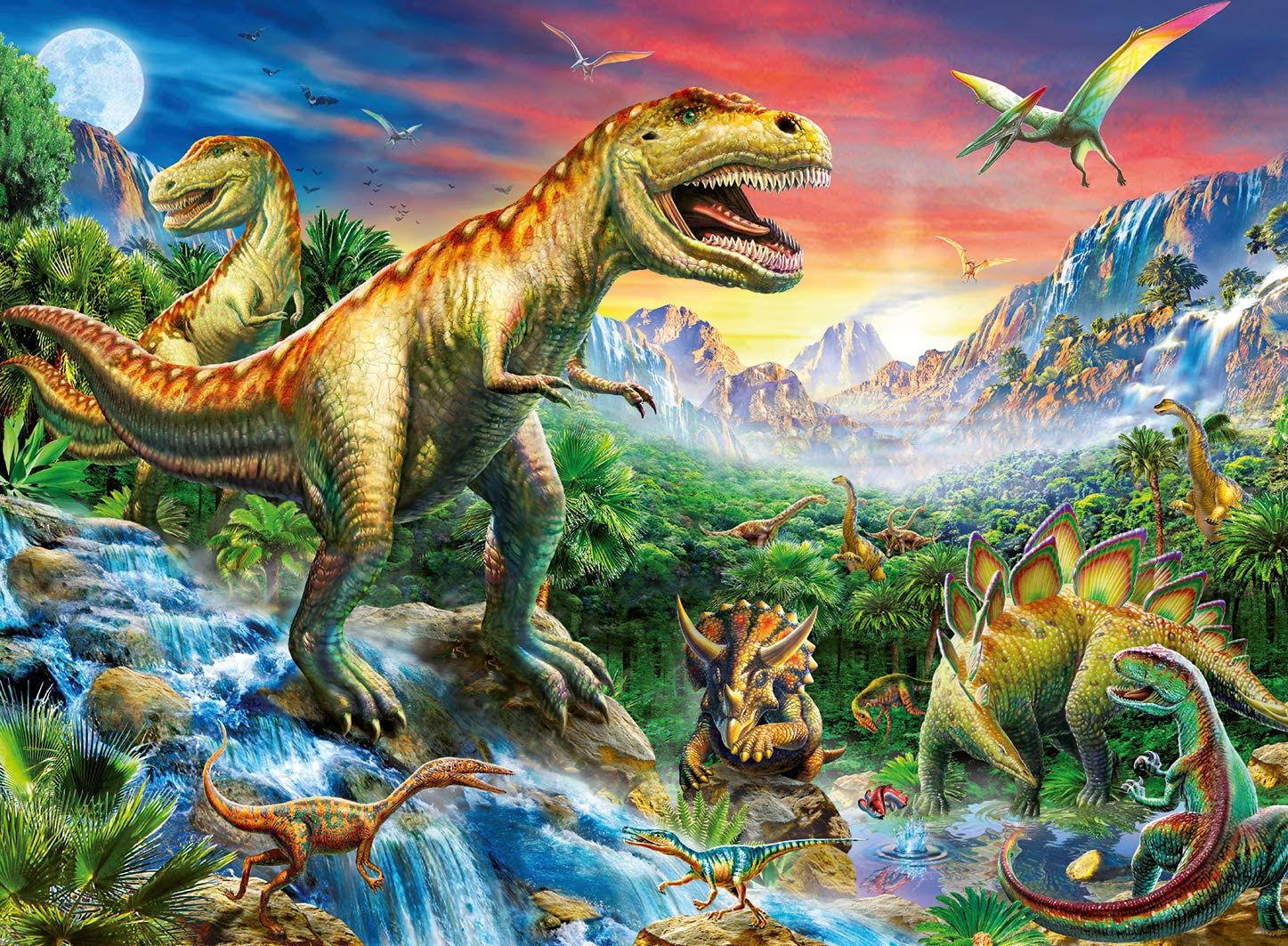 Image de Ravensburger - 10665  - Puzzle - Au Temps des Dinosaures - 100 Pièce
