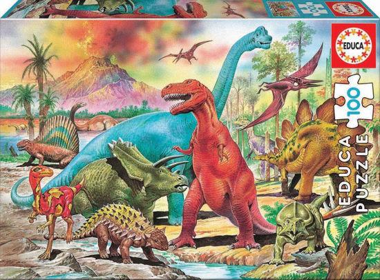 Image de Puzzle 100 les dinosaures 13179