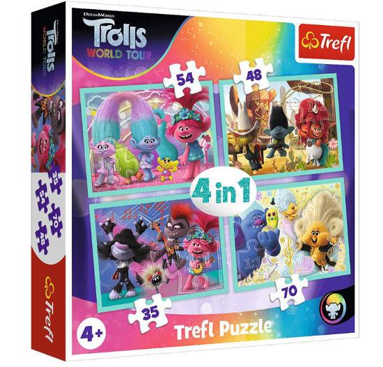 Image de TREFL Puzzle 4 IN 1 TROLLS 2 34336