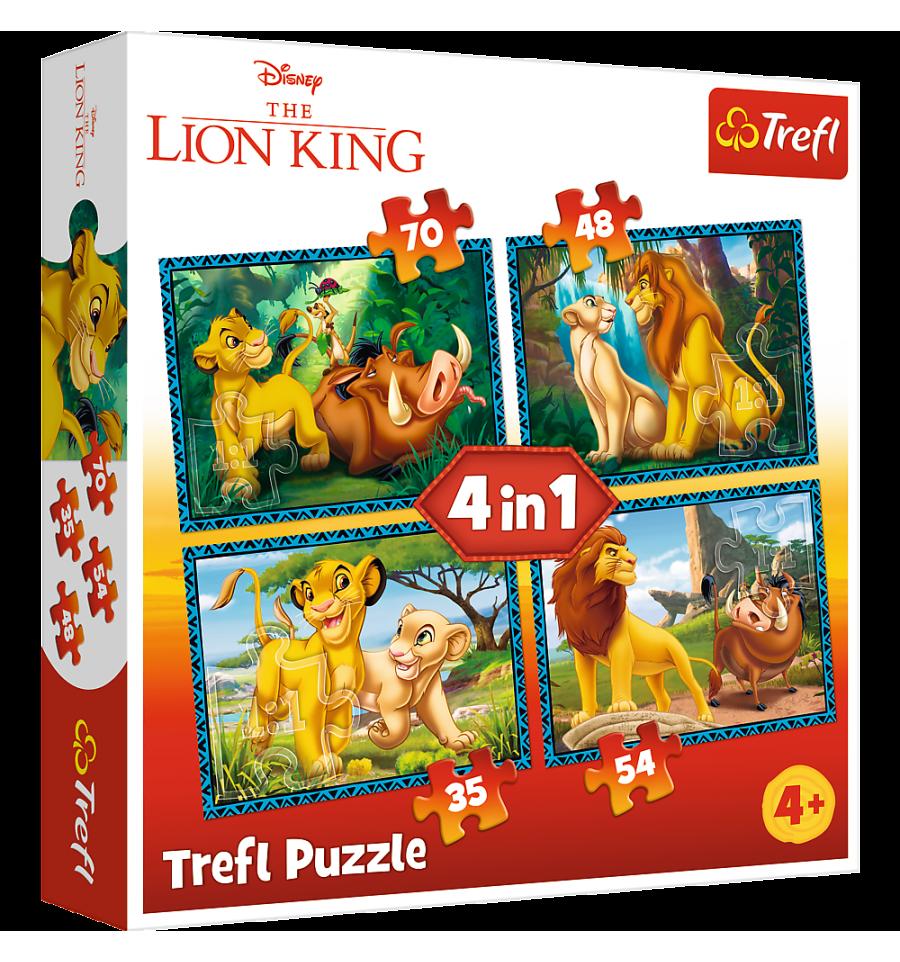 Image de Trefl Puzzle 4 en 1 modèle Le Roi Lion  34317