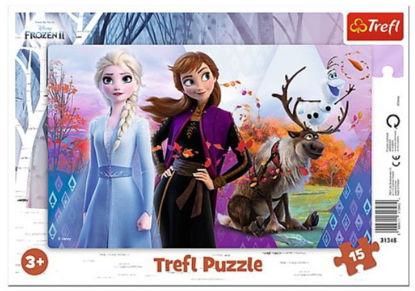 Image de TREFL Puzzle 15 cadre monde magique 31348