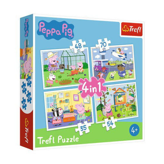 Image de trefl Puzzle 4 en 1 modèle Peppa Pig 34316