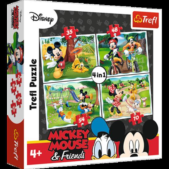 Image de Trefl Puzzle 4 en 1 Mickey Mouse & Friends 34261