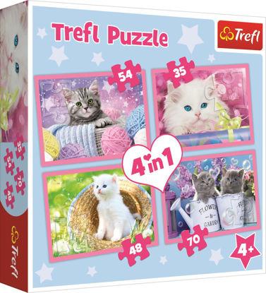 Image de Trefl Puzzle 4 en 1 les chats 34330