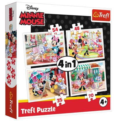 Image de trefl Puzzle 4 en 1Minnie&Mickey Mouse34315