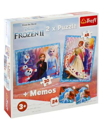 Image de TREFL Puzzle 2en1 + memos frozen 2 90814