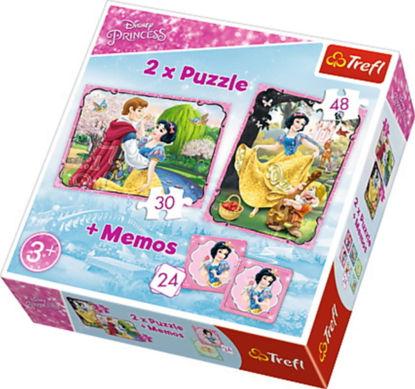 Image de TREFL Puzzle 2en1 + memo princesse 90603
