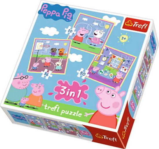 Image de TREFL Puzzle 3 en 1 peppa pig 34849