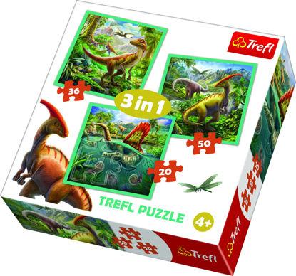 Image de TREFL Puzzle 3en1 dinosaures 34837