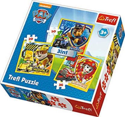 Image de TREFL Puzzle 3en1 paw patrol  34839