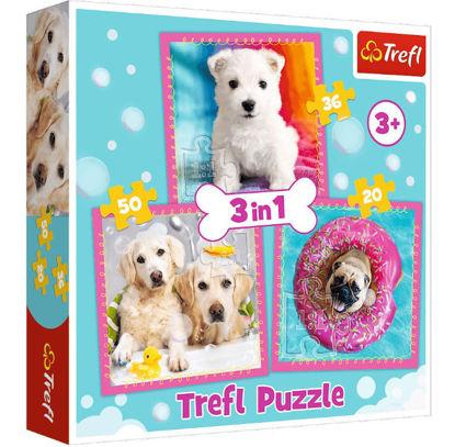 Image de TREFL Puzzle 3 en 1 les petits chiens 34845