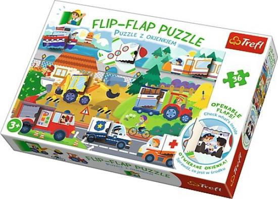 Image de TREFL Puzzle flip flap peppa pig 14273