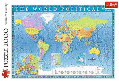 Image de TREFL Puzzle 2000 carte du monde 27099