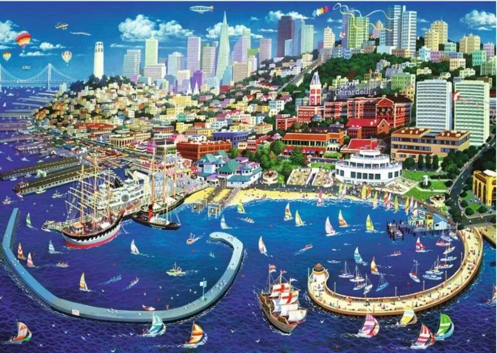 Image de TREFL PUZZLE 2000 SAN FRANCISCO 27107
