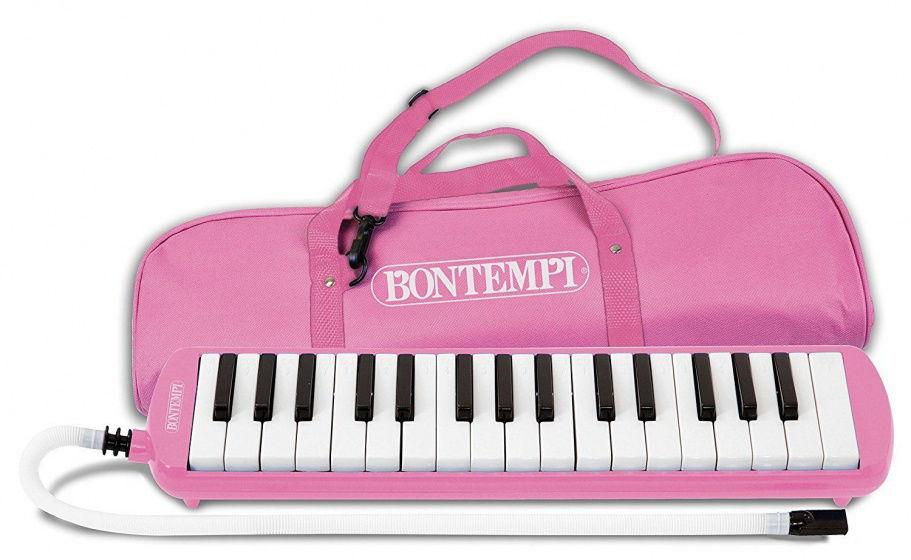Image de BONTEMBI Piano à bouche 32 touches rose 333271