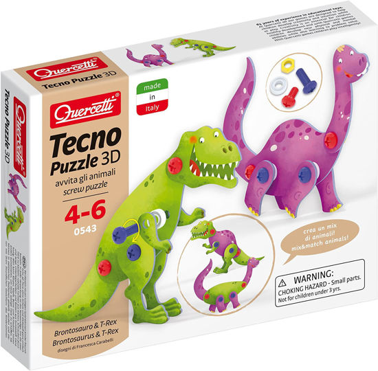 Image de QUERCETTI  Tecno Puzzle 3D Brontosaurus & T-Rex 0543