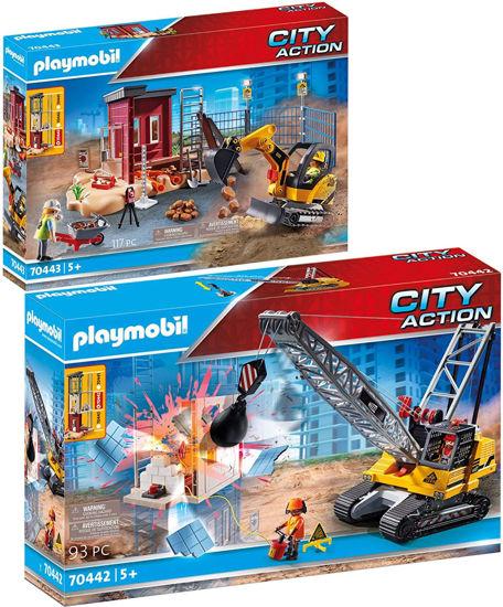 Image de PLAYMOBIL gragline avec mur de construction