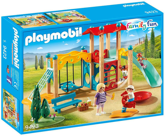 Image de PLAYMOBIL parc de jeu avec toboggan