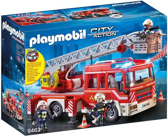 Image de PLAYMOBIL caserne de pompiers avec echelle pivotante