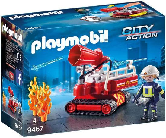Image de PLAYMOBIL pompier avec robot d'intervention