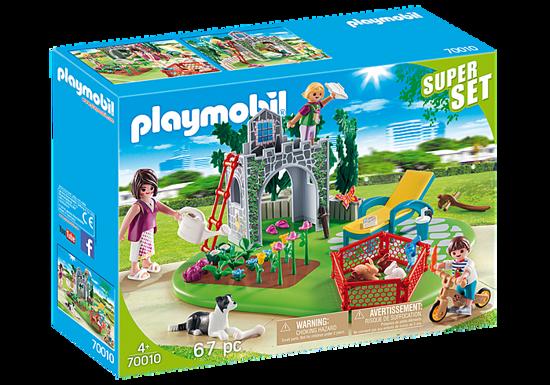 Image de Play mobil Super Set Famille et jardin 70010