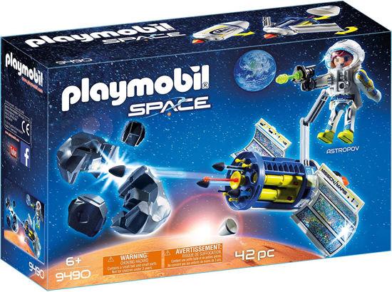Image de PLAYMOBIL spationaute avec satellite et meteorite