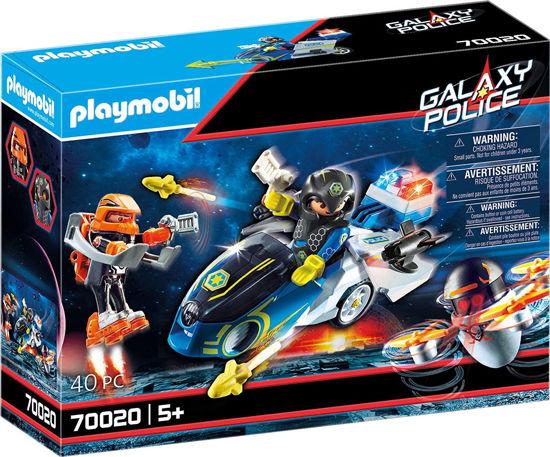 Image de Playmobil Moto et Policier de l'Espace 70020