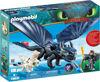 Image de Playmobil Krokmou et Harold avec Bébé Dragon70037