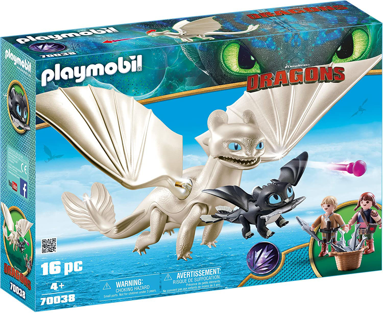 Image de Playmobil Furie Éclair et Bébé Dragon avec Enfants 70038