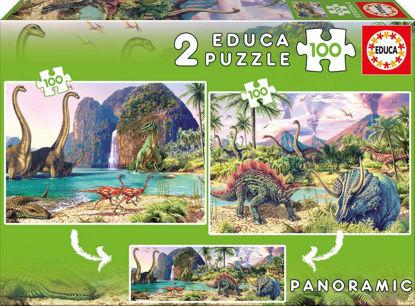 Image de PUZZLE 2*100 LES DINAUSAURES 15620