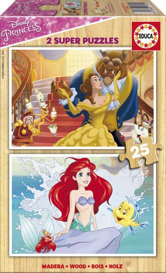 Image de EDUCA puzzle bois 2*25 princesse 17164