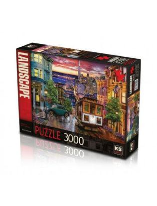 Image de puzzle 3000 pcs coucher de soleil à San Francisco KS.