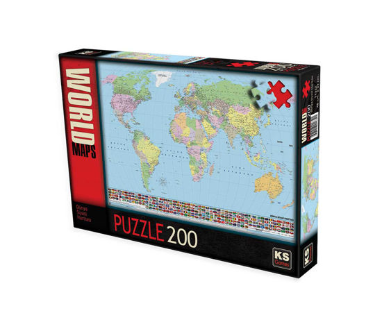 Image de Puzzle 200 pièces world maps  KS11332