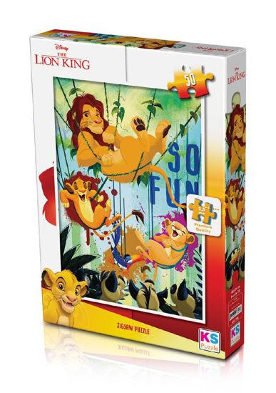 Image de PUZZLE 50 PIECES LION KING  LK709