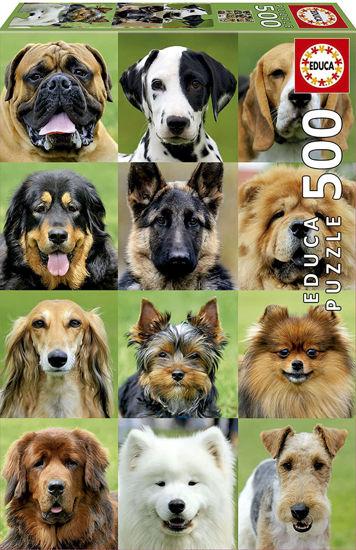 Image de EDUCA puzzle 500 pcs collage de chiens 17963