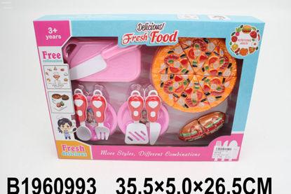 Image de Coffret Fast Food  avec accessoires cuisine.