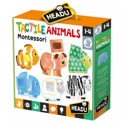 Image de HEADU Tactile animals montessori