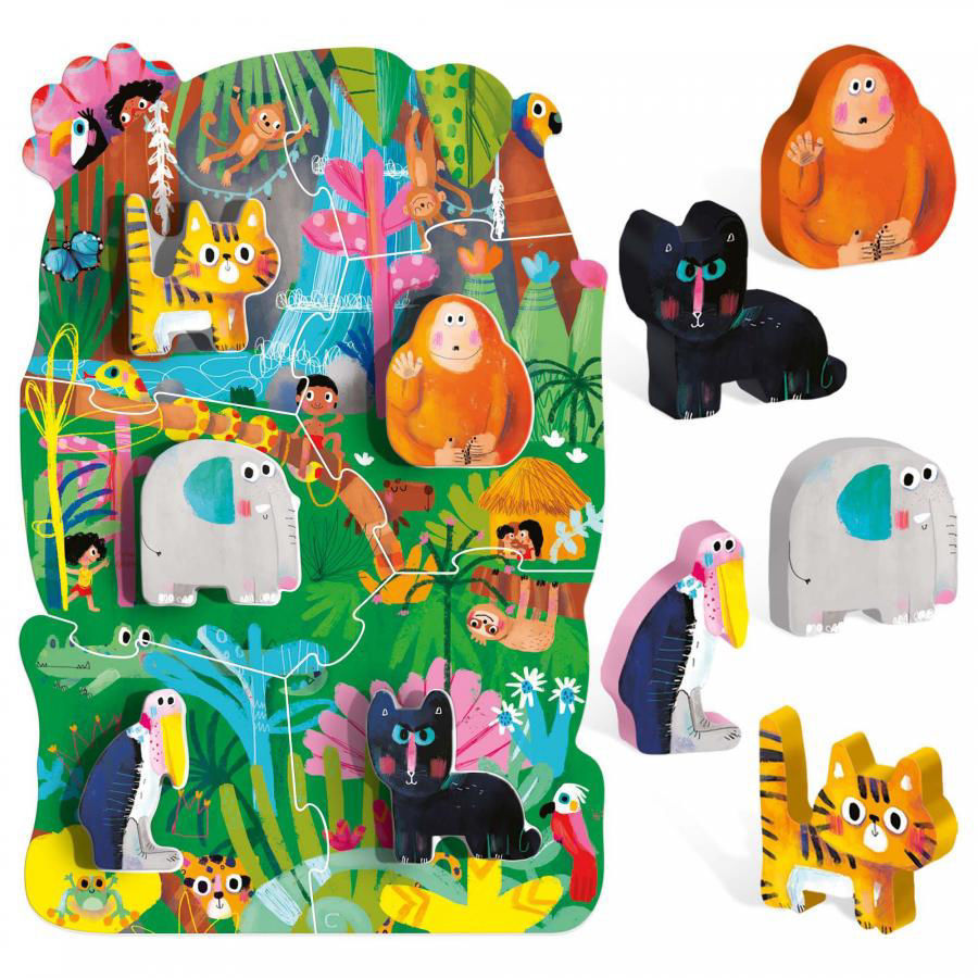 Image de HEADU Montessori first puzzle the jungle IT22380