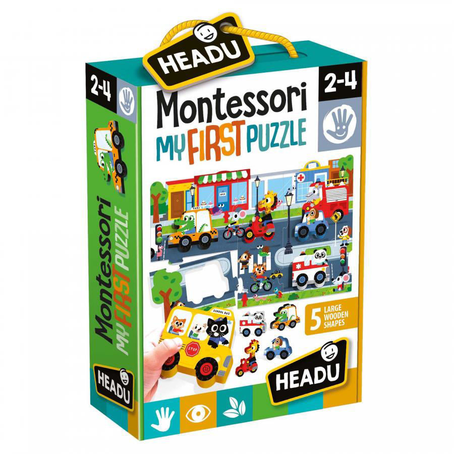 Image de Headu Montessori First Puzzle the City 22373