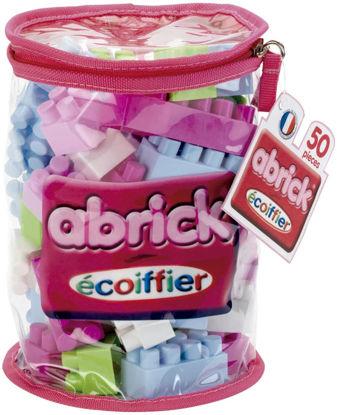 Image de Ecoiffier  Sac de briques à empiler rose Abrick 485