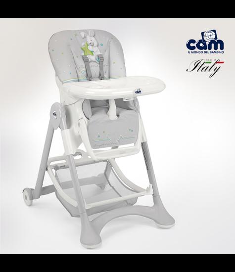 Image de Chaise haute campione gris