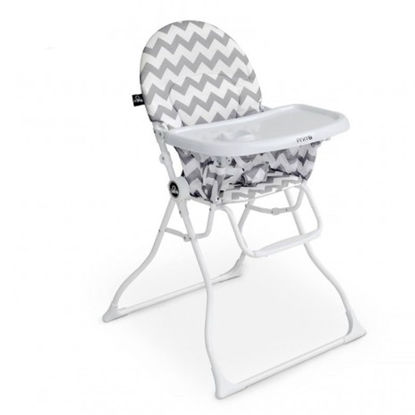 Image de CHAISE HAUTE MAGIC ZIGZAG BLANC /GRIS