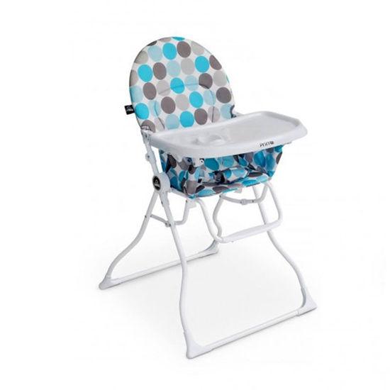 Image de Chaise haute magic bulle turquoise/gris